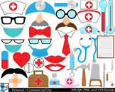 Doctor Props Digital Clip Art Personal Commercial Use 166