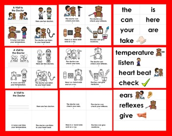 Doctor Readers - 3 Reading Levels + Illustrated Word Wall