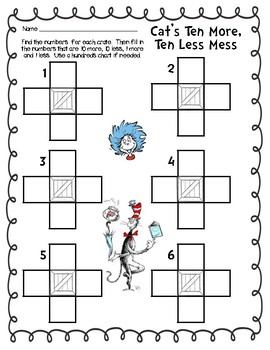 Read Across America/Dr Seuss Math & Literacy Pack