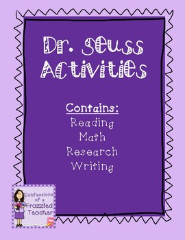 Doctor Seuss Writing, Reading, and Math Activities