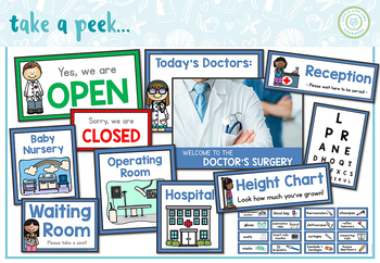 Doctor Themed Dramatic Play Printables