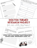 Research Project Writing Packet ( Great for Hospital Room