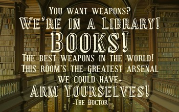 """Doctor Who Classroom Poster Tardis """"Books are the Best Weapons!"""""""