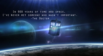 "Doctor Who Classroom Poster Tardis ""Important"""