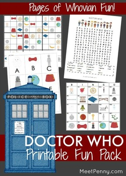 Doctor Who Fun Printable Pack 1