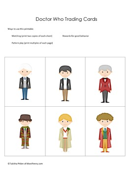 Doctor Who Fun Printable Pack 2