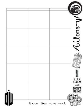 Doctor Who Lesson Planner