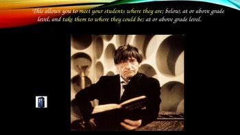 Reading Lessons ~ Doctor Who & the Doctors of Reading Meet Marzano & Common Core