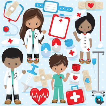 Doctor clipart commercial use, vector graphics, digital - CL1101