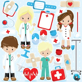 Doctor clipart commercial use, vector graphics, digital - CL965