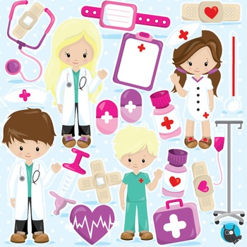 Doctor clipart commercial use, vector graphics, digital - CL966