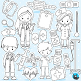 Doctor medical stamps commercial use, vector graphics, images  - DS965
