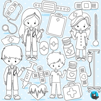 Doctor medical stamps commercial use, vector graphics, ima