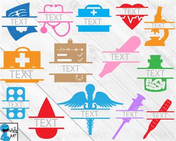 Doctor monogram V3 - Cutting Files and Clip Art Digital Files cod4c