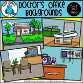 Doctor's Office Background Scenes Clip Art Set - Chirp Graphics