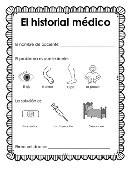 Doctor's Office Dramatic Play - Spanish