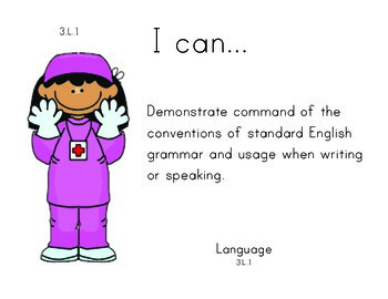 Doctors 3rd grade English Common core standards posters