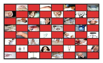 Doctors, Illnesses, and Injuries Legal Size Photo Checkerboard Game