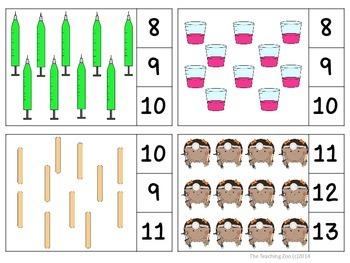 Doctors & Nurses Count & Clip Numbers 1- 30 Task Cards