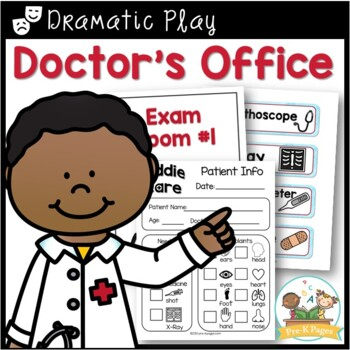 Doctor's Office Dramatic Play Printables for Pre-K and Kindergarten