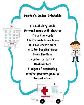 Doctor's Order Printable