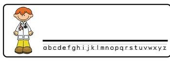 Doctors Theme Desk Nameplates (Set of Four)