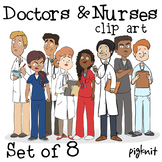 Doctors and Nurses Clipart | Hospital, Health, and Medical Characters