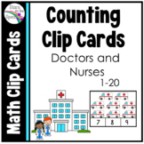 Doctors and Nurses Counting Clip Cards 1-20