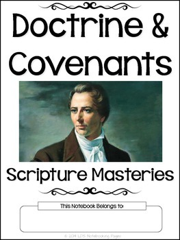 Doctrine and Covenants Scripture Masteries - Manuscript