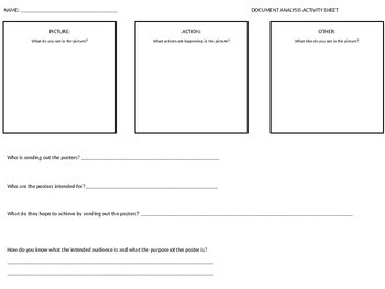 Document Analysis Activity Sheet