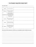 Document Analysis Chart