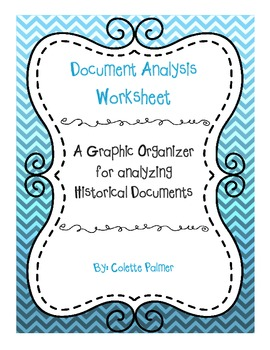 Document Analysis Graphic Organizer for Historical Documents