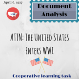 Document Analysis: The United States Enters WWI