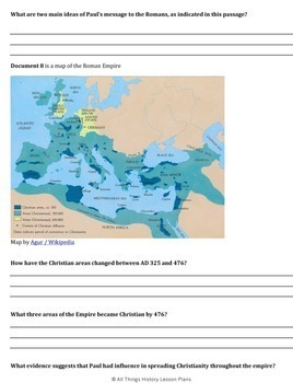 DBQ Ancient Rome & Christianity -Common Core State Standards
