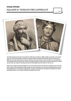 Document Based Question: Comparing Saladin & Richard