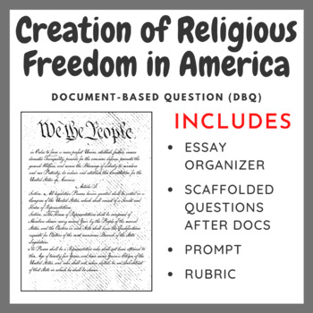 Creation of Religious Freedom in America - Document-Based Question
