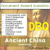 Document Based Question (DBQ) Ancient China-Common Core State Standards CCSS