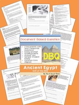 Document Based Question (DBQ) Ancient Egypt-Common Core State Standards CCSS