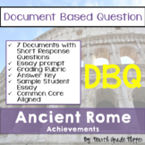 Document Based Question (DBQ) Ancient Rome-Common Core State Standards CCSS