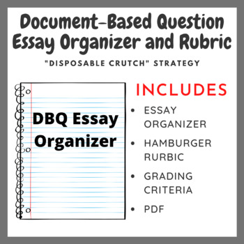 Document Based Question (DBQ) Essay Outline & Rubric