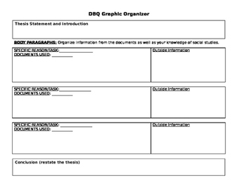 Document Based Question (DBQ) Graphic Organizer
