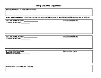 Document Based Question (DBQ) Graphic Organizer