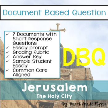 Document Based Question (DBQ) Jerusalem-Common Core State Standards CCSS