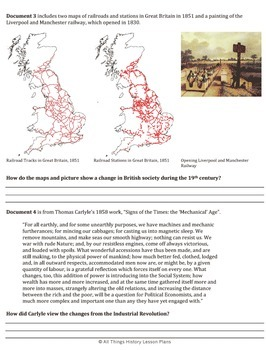 Document Based Question: Effects of the Industrial Revolution in Great Britain