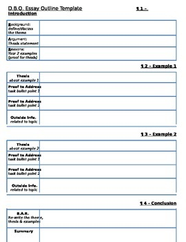 Document-Based Question Outline Template version 1 - Globa