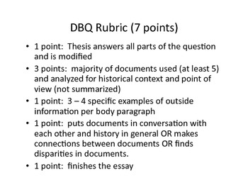 APUSH Document Based Question Tutorial