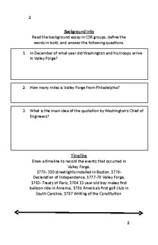 Document Based Question - Valley Forge