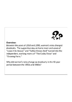 Document Based Question: Why did women's roles change from the 50s to the 80s?