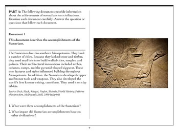 World History - Ancient Civilizations Document Based Question