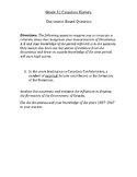 Document Based Questions - Canada Confederation